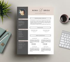 Download #CVTemplate and #CoverLetter for Word by This Paper Fox   Modern and Clean #ResumeTemplates - http://luvly.co/users/ThisPaperFox