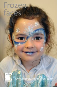Blue Orange Images #facepainting Watford, Herts #Frozen character. Design by Edna 07971 813850