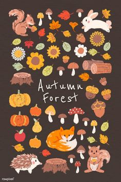 Download premium vector of Autumn design elements vector set 1180796