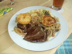 Liver Berlin Style - veal liver with apples and onions! That's a Berlin specialty! Original German.