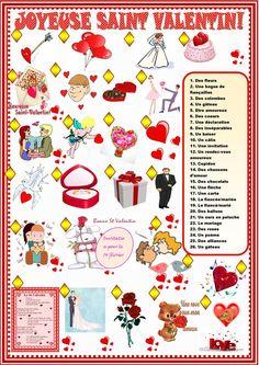 St Valentines day: matching worksheet Free ESL printable worksheets made by teachers