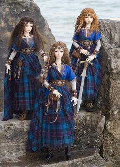 Celtic Invasion... thinking this would be an awesome start for a Celtic doll collection