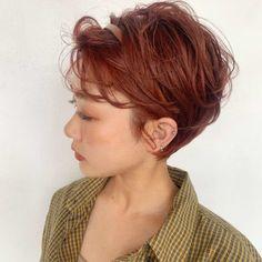 Short Hair Cuts, Short Hair Styles, Korean Haircut, Hair Arrange, Short Hairstyles For Women, Pixie Cut, Hair Inspiration, Fashion Inspiration, New Outfits