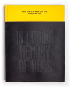 In Loving Memory of Work | Book Cover Inspiration | Award-winning book design | D&AD