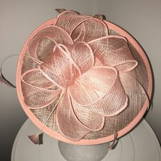 TheHeadwearBoutique on Etsy-  Megan Light Salmon Pink Fascinator Kentucky Derby / Oaks Day Mini-Hat, Spring Racing Fashion