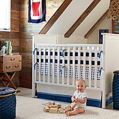 Just ordered this for Dermott's crib bedding. I love the blue crab motif, its also a great nod to his Maryland roots!