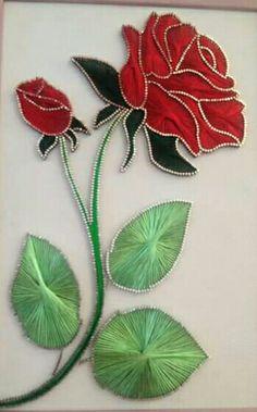 Nail String Art, String Crafts, Nail Art, Yarn Thread, Thread Art, Arte Linear, Diy And Crafts, Arts And Crafts, String Art Patterns