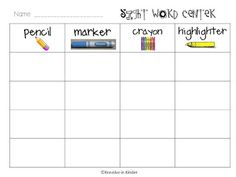 Kreative in Kinder: K Daily 5 CH 6 Linky Party WORD WORK FREEBIES