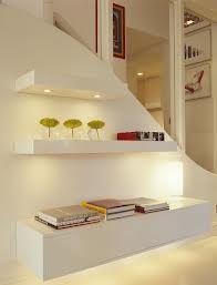 floating shelves - stairway
