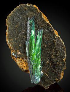 Vivianite with Siderite matrix - Cabeça do Cachorro claim, São Gabriel da Cachoeira, Amazonas, Brazil Size:12.8 × 9.1 × 3.9 cm