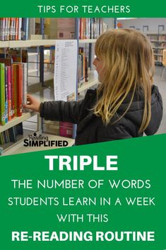 Discover how to help your readers grasp sight word knowledge and memorize more words each week.  This routine can TRIPLE the number of words your student knows in as little as one week.  #sightwords #rereadingroutine #readinginstruction