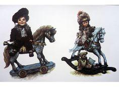 388 Victorian Rocking Horse Doll Teddy