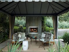Outdoor Rooms with Fireplace