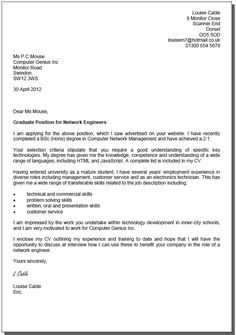 Cv Cover Letter Examples South Africa   Food Ideas