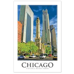 Chicago Water Tower Poster