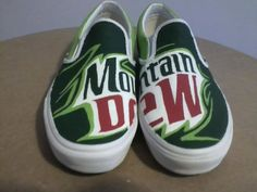 Mountain Dew Custom Vans by lizzmakes on Etsy, $90,50
