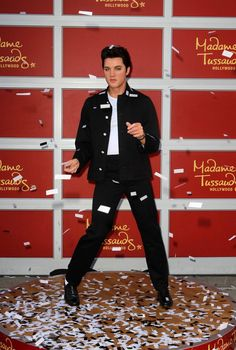 Elvis Presley Wax Figure Madame Tussauds Hollywood unveils a wax figure of King of Rock and Roll Elvis Presley Los Angeles, California