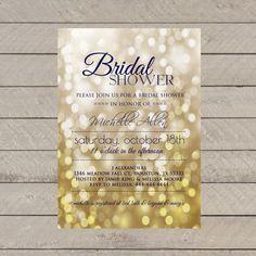 Glitzy Bridal Shower invitation by MemoryLanePaperie on Etsy, $18.00