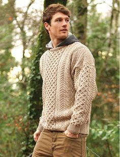 Aron Sweater Market Merino Aran Wool Sweater