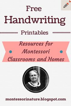Free Handwriting Printables via Montessori Nature