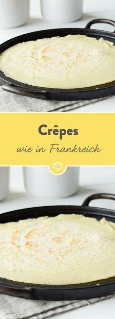 French crepes - the basic recipe - Pfannkuchen & Co - Pancake Recipes A Food, Food And Drink, Breakfast Recipes, Dessert Recipes, Snacks Recipes, German Pancakes, French Crepes, Food Items, Desert Recipes