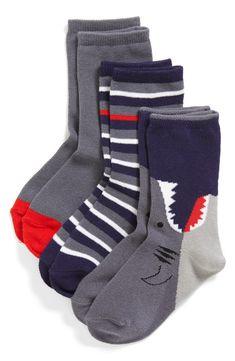 Who says socks can't be fun? Shark socks for kids!