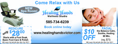 Pedicures, facials, massages, what could be better? Come to the Healing Hands Wellness Studio in Rochester, NY and save on your wellness! Valpak coupon