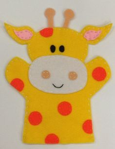 Giraffe Hand Puppet on Etsy, Giraffe H… - Stofftiere Glove Puppets, Felt Puppets, Puppets For Kids, Felt Finger Puppets, Hand Puppets, Puppet Crafts, Felt Crafts, Diy For Kids, Crafts For Kids