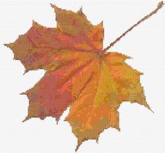 Cross Stitch | Maple Leaf xstitch Chart | Design