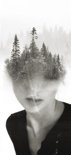 Surreal Portraits Blend Mystical Landscapes with Reality - My Modern Metropolis · double exposure Bw Photography, Double Exposure Photography, Artistic Photography, Street Photography, Minimalist Photography, Photography Contests, Photography Classes, Photography Backdrops, Creative Photography