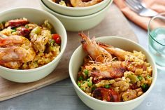 Impress guests with this flavourful paella that tastes as great as it looks.