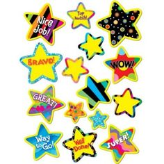 Poppin Pattern Bright Stars Stickers CTP4112