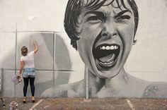 Brasile: nuovo pezzo della street artist BKfoxx.