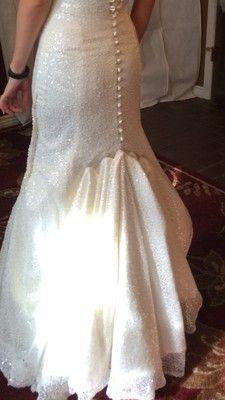 bustling a chapel train Wedding Gown Bustle, Wedding Gowns, Lace Wedding, Chapel Train, Tulle Dress, One Shoulder Wedding Dress, Bubble, Image, Google Search