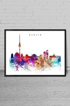 Imprimir acuarela de Berlín Berlín acuarela arte por MyVisualArt