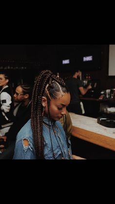 53 Box Braids Hairstyles That Rock - Hairstyles Trends Latest Braided Hairstyles, Rock Hairstyles, African Braids Hairstyles, Winter Hairstyles, Cute Box Braids, Long Box Braids, Under Braids, Curly Hair Styles, Natural Hair Styles
