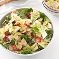 BLT Bow Tie Pasta Salad -really good, keep the lettuce apart until ready to serve. If you are going to refrigerate for a couple of days, dont add the tomatoes until ready to serve, they turn mushy