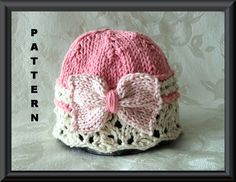 Knitted Hat Pattern Baby Hat Pattern Knitting por CottonPickings