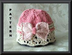 Knitted Hat Pattern Baby Hat Pattern Knitting por CottonPickings