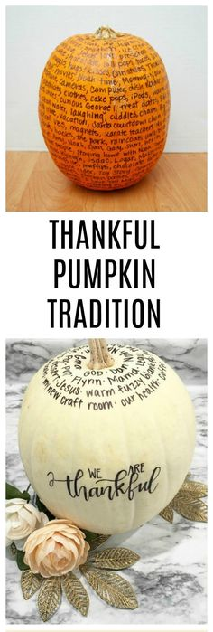 The Thankful Pumpkin is a fun and simple tradition you can start with your family to focus on gratitude this holiday season! Thanksgiving Traditions, Thanksgiving Crafts, Holiday Traditions, Thanksgiving Decorations, Fall Crafts, Holiday Crafts, Holiday Fun, Family Traditions, Holiday Ideas