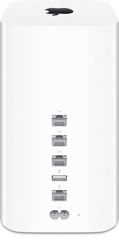 Apple - Mac - AirPort Extreme - The redesigned AirPort Extreme and AirPort Time Capsule base stations feature three-stream 802.11ac Wi-Fi technology with a maximum data rate of 1.3Gbps, almost three times faster than 802.11n.