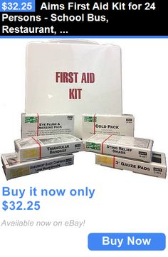 Kits and Bags: Aims First Aid Kit For 24 Persons - School Bus, Restaurant, Auto, Office, Home BUY IT NOW ONLY: $32.25