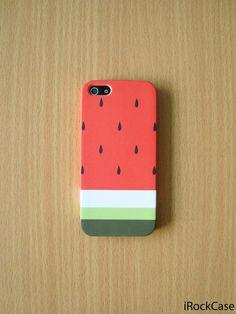Pastel Watermelon Stripe iPhone Case Cute Watermelon by iRockCase, $19.99