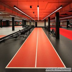 Decoflex High Performance Sprint Tracks are great for speed training inside a gym facility.