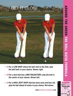Golf Program Modify your ball position to create 3 different ball flights. That's three shots with just one set-up! Golf 6, Play Golf, Sport Golf, Golf Chipping Tips, Golf Books, Golf Academy, Golf Tips For Beginners, Perfect Golf, Golf Training