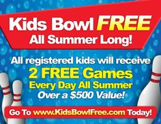 Get the kids out the houseandmore active. Last year was my first time registering for the Kids Bowl Free.Every Sunday coupons are emailed for the week, and the only thing I had topay for was th…