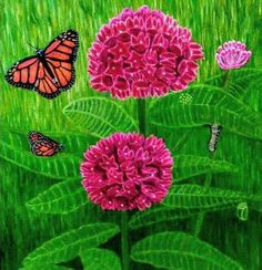 """""""The Power & Beauty of Metamorphosis""""; orig. oil painting I made for my ebook on Amazon.   Please check it out. Thanks."""