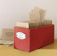 """This is a box of """"gathered truths"""" from great and famous minds.  I'd love to make one full of scripture and truths from wise and godly Christian leaders"""