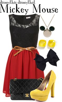 """""""Mickey Mouse"""" by disneythis-disneythat ❤ liked on Polyvore"""