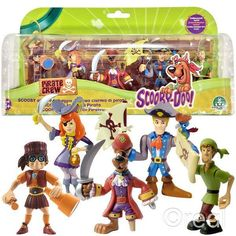New Scooby Doo Pirates 5 Figure Pack Shaggy Fred Velma Daphne Official | eBay
